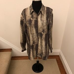 Anna & Frank 100% silk Womens Button up Blouse Med